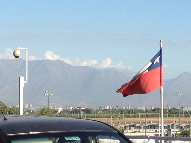 The Andes. A view you can see from the SCL Airport.