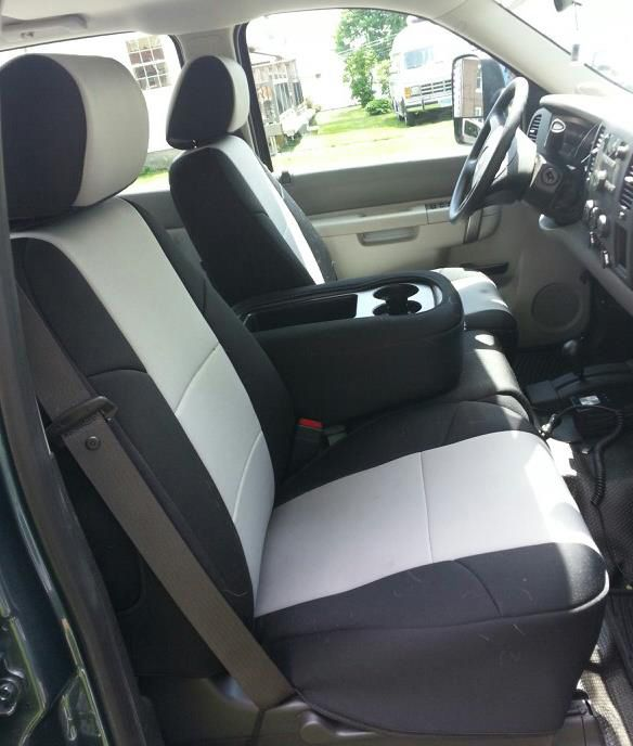 2010 - 2013 Silverado Neoprene Front Seat Covers-Chevy Mall