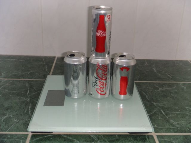 My Diet Coke can stack weigh in