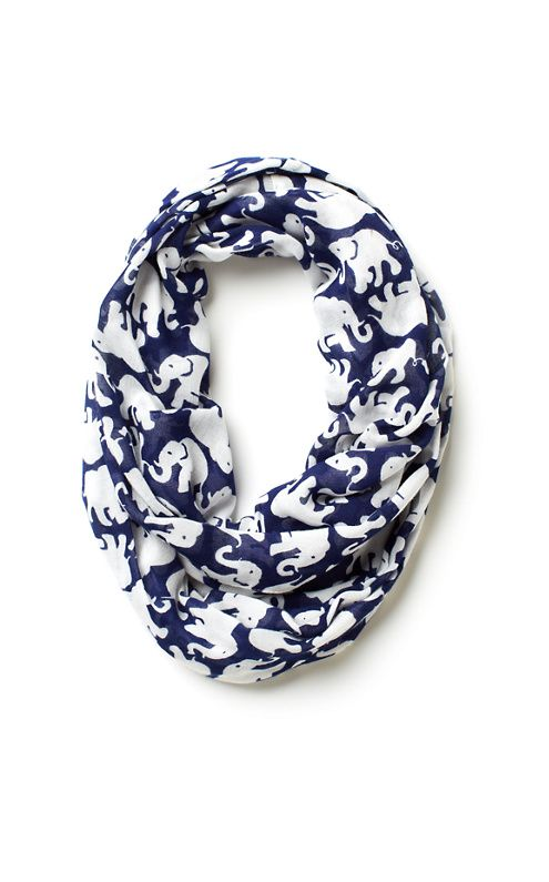 Lilly Pulitzer Riley Infinity Loop Scarf in Tusk In Sun
