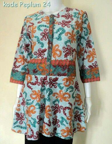 Peplum Blouse Batik