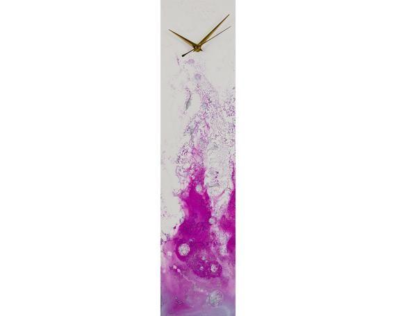 Purple Home Decor Modern Wall Clock For Kitchen Or Office Wall Etsy In 2020 Purple Home Decor Wall Clock Modern Wall Clocks Uk