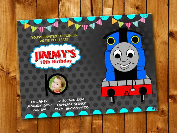 Best Birthday Invitation Card Images On Pinterest Invitation - Birthday invitation card thomas and friends