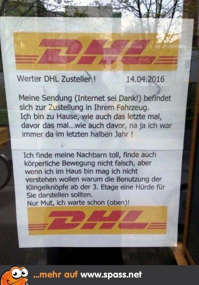 DHL-Brief