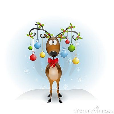 Cartoon Reindeer Ornaments Royalty Free Stock Images - Image: 5982519