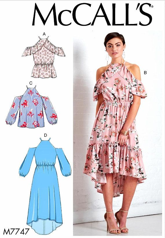ad31a281d02e Sewing Pattern Womens Off Shoulder Dress Pattern