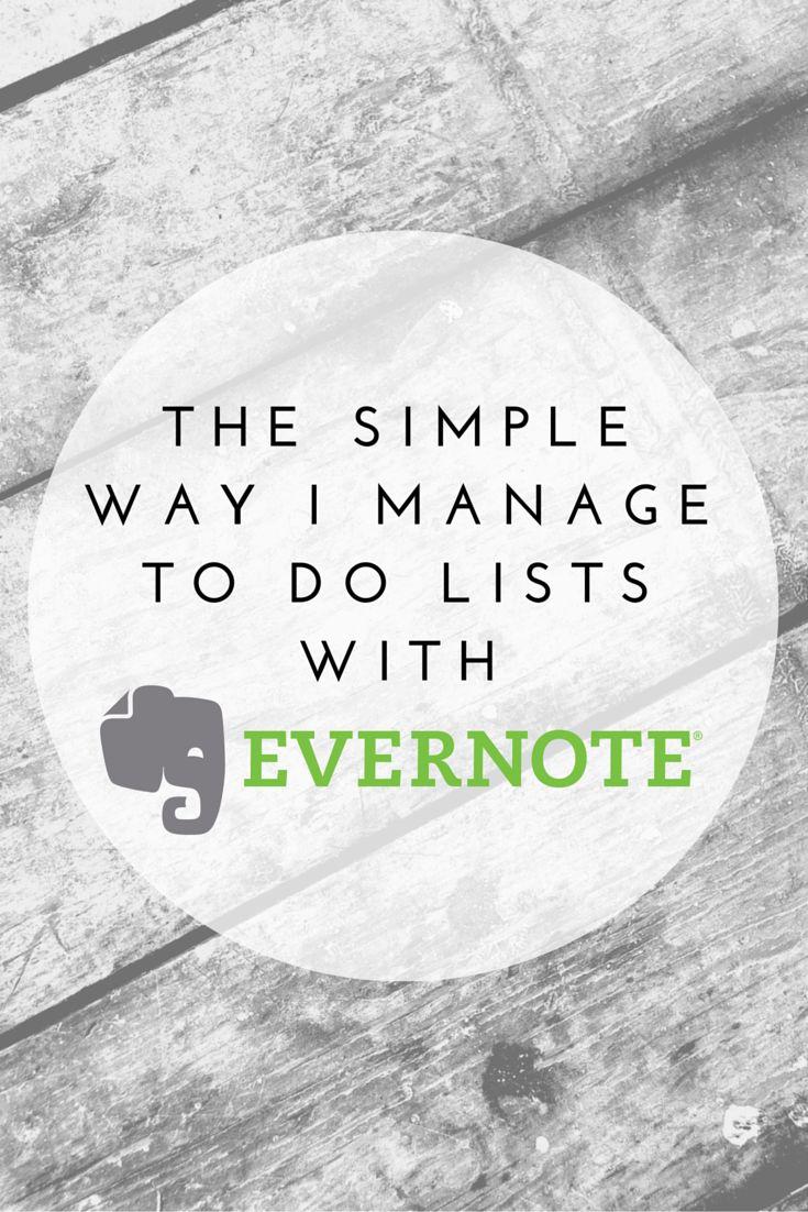 The Simple Way I Manage To Do Lists with #Evernote | AileenBarker.com #Socialmedia #organize