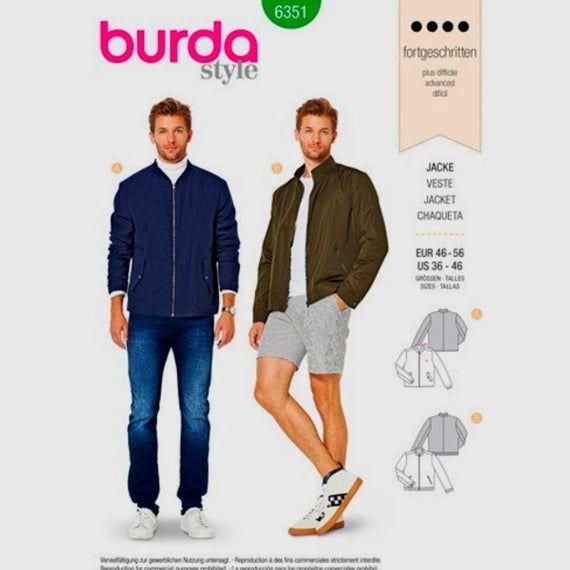 Burda Mens Sewing Pattern 7142 Classic Coats /& Jackets Burda-7142