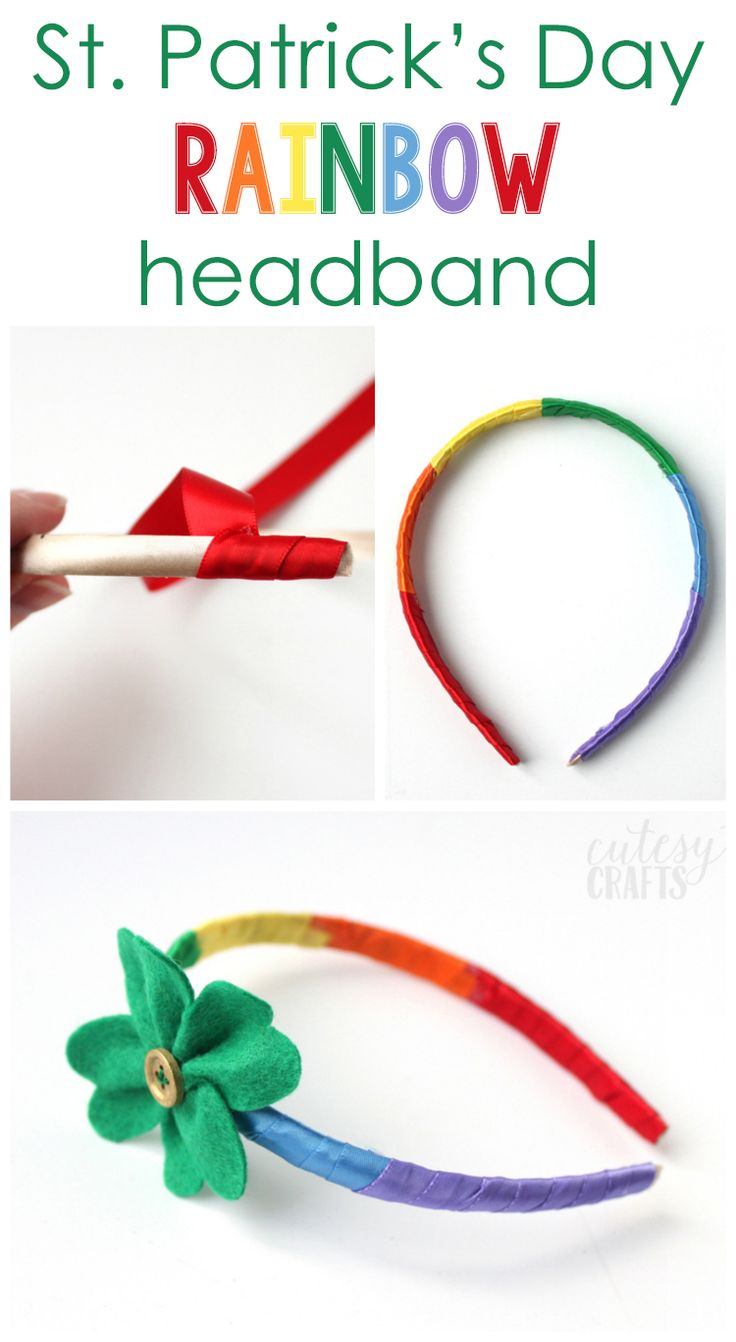 St. Patrick's Day Craft - Rainbow Headband
