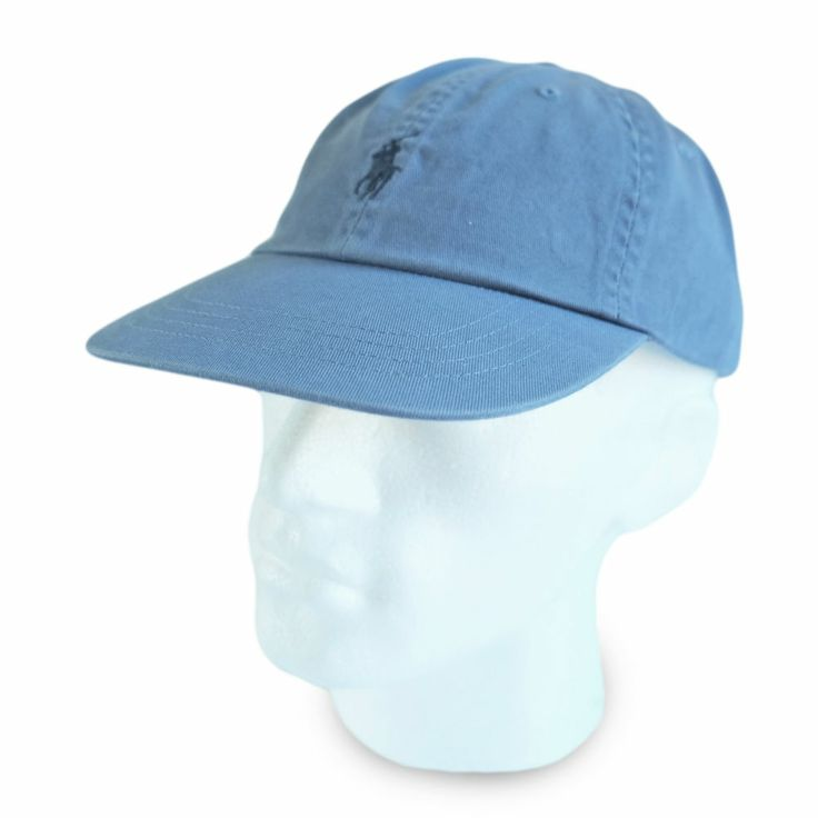 Polo Ralph Lauren Baseball Cap Hat in Blue Grey for Men  u0026 Women  Leather Strap f68d9fdf384