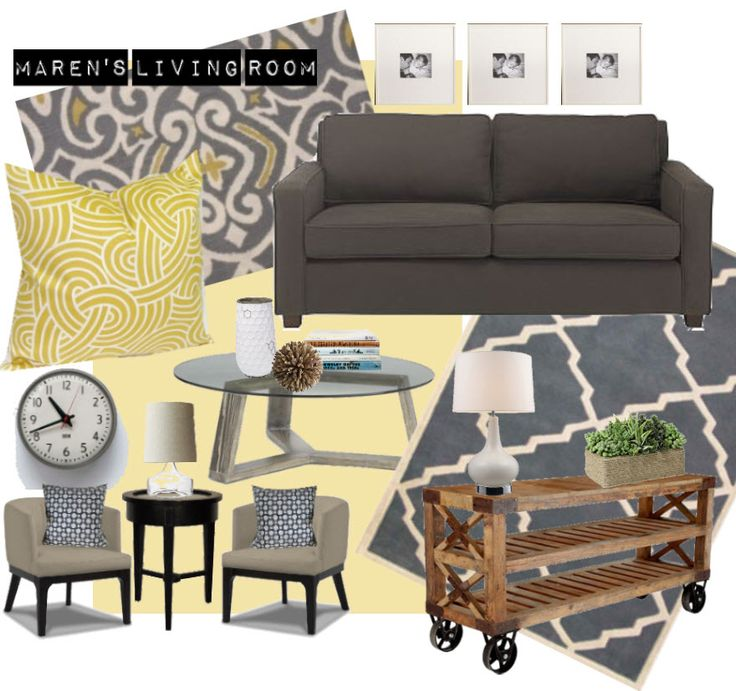 24 best living room images on pinterest for Living room yellow and grey