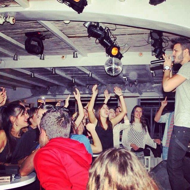 """Live @oceanmojo Naxos!! #lovethispeople #perform #live #stage #lights"""