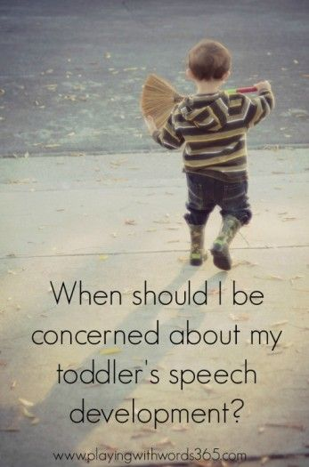Playing With Words 365: When Should I Be Concerned About My Toddler's Speech Development? Pinned by SOS Inc. Resources. Follow all our boards at pinterest.com/sostherapy for therapy resources.