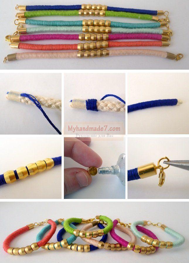 Как сделать оригинальные браслеты своими руками