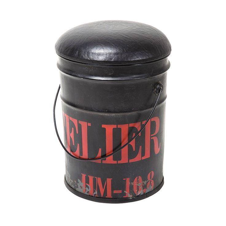 WOHNZIMMER - Stol/pall Bucket Black