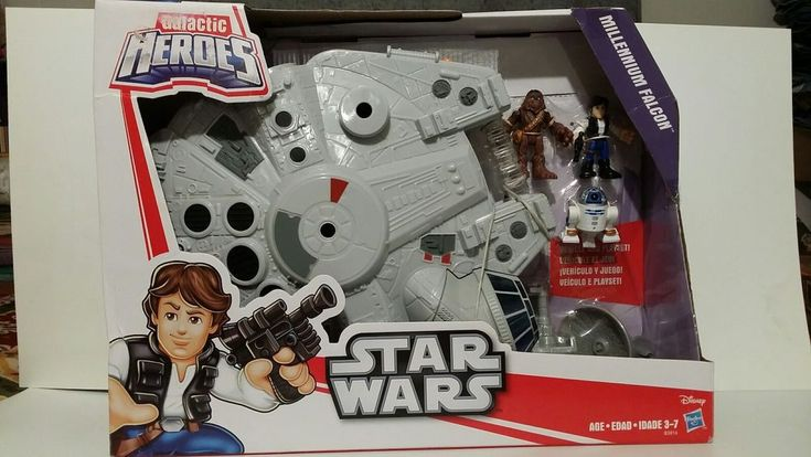 New Playskool Disney Star Wars Galactic Heroes Millennium Falcon & Figures  #Playskool