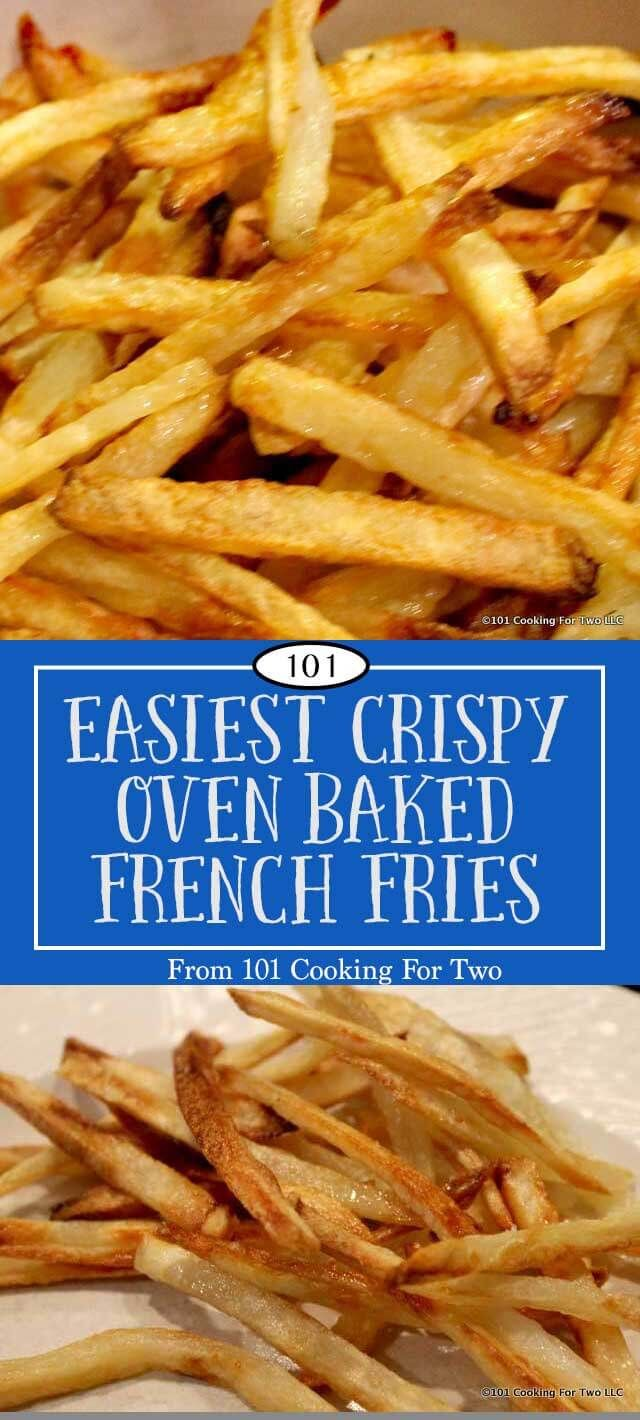 Here are the secrets to the best oven French fry ever. Tasty, crispy, healthy and did I say easy. Now you can do it too. via @drdan101cft