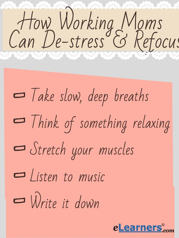 Working Moms Have To Do It All, Which Can Become Stressful. This Article  Helps Show How Working Moms Can De Stress And Refocus.