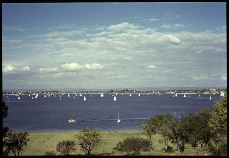 145745PD: Sailboats on the Swan River viewed from Nedlands, Western Australia, May 1970. https://encore.slwa.wa.gov.au/iii/encore/record/C__Rb5277378