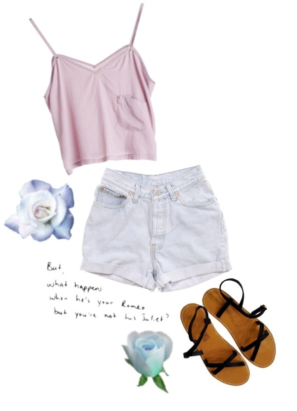 """summertime sadness"" by godblessthisd00bie ❤ liked on Polyvore"