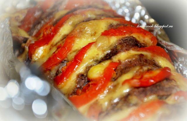 Мастерская на кухне: Мясо, запеченное с помидорами и сыром (гармошка)
