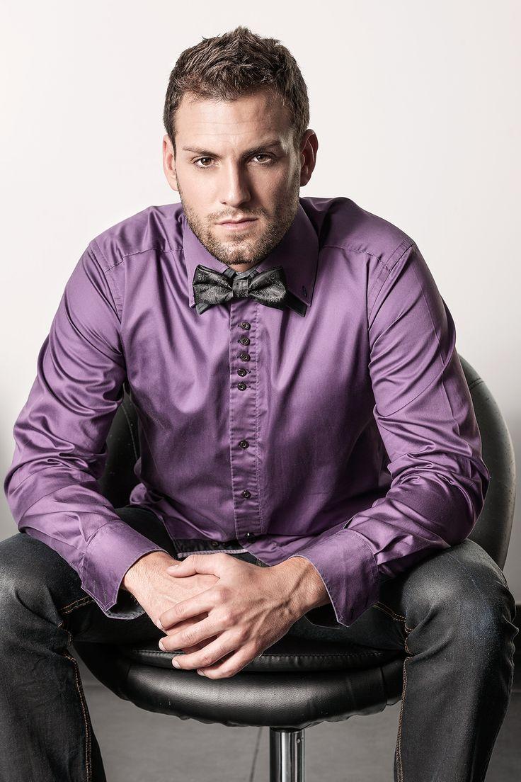 noeud papillon noir pour homme, imprimé cachemire - clipshirt MAXIME, sans tour de cou - accessoire de mode original pour homme exigeant - attache rapide par clips, directement sur le col de la chemise.