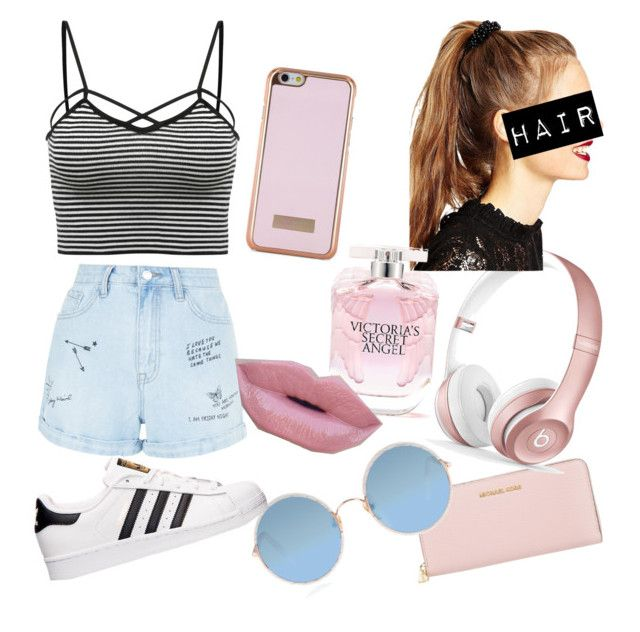 """😻"" by talia-123 on Polyvore featuring Ted Baker, Michael Kors, New Look, Beats by Dr. Dre, ASOS, Victoria's Secret, Sunday Somewhere, adidas and Morphe"