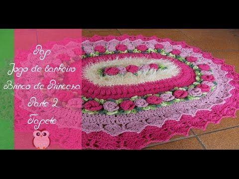 Croche- Tapete Brinco De Princesa2- Passo A Passo - Parte 1 - YouTube