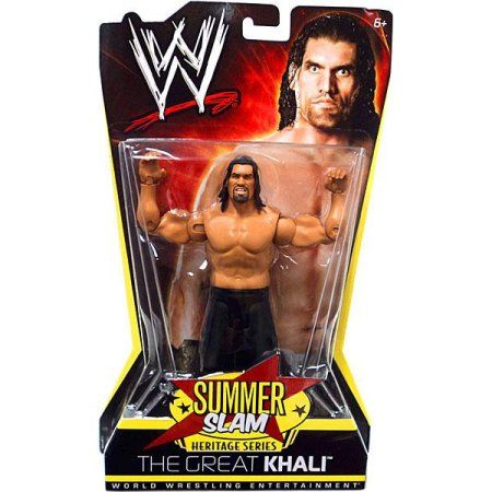 WWE Wrestling Summer Slam Heritage Series The Great Khali Action Figure, Multicolor