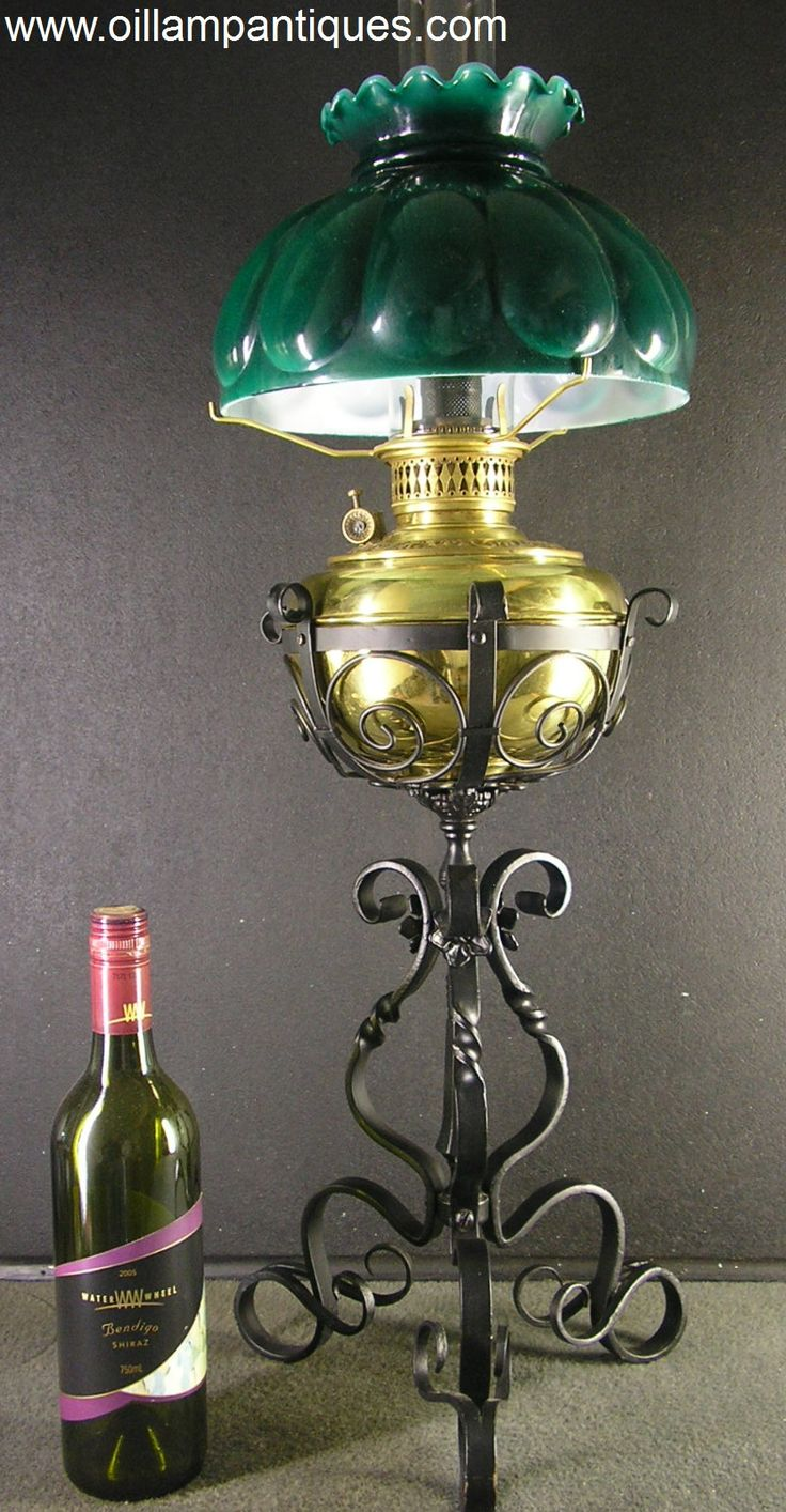 Regent antiques lights antique victorian oil lamp c 1860 - Antique Brass And Wrought Iron Lamp Oil Lamp Antiques