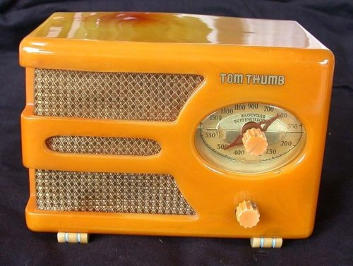 Art Deco Butterscotch Tom Thumb Catalin RadioItem condition $ 2,400.00