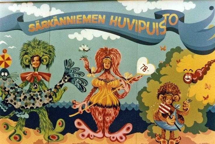 Särkänniemen huvipuisto 1970-luvulla. #särkänniemi #sarkanniemi #tampere