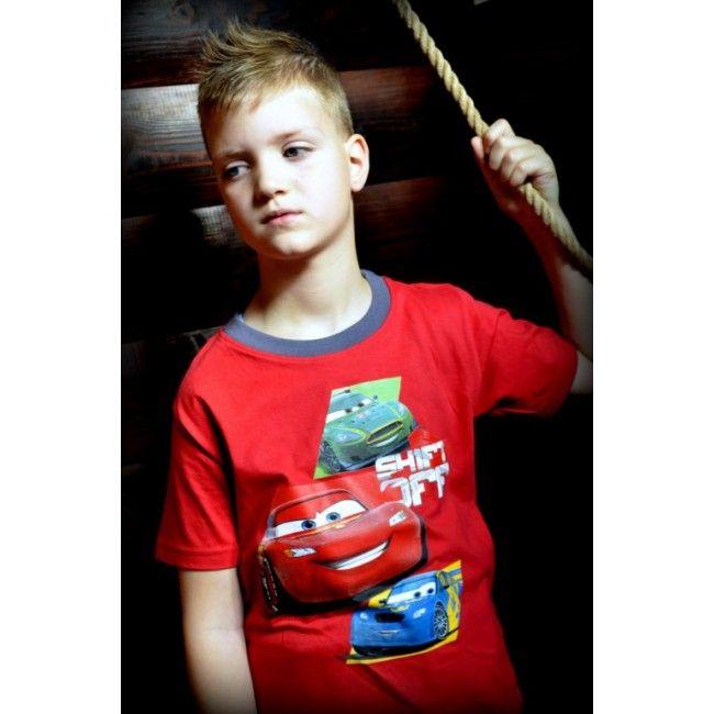 Verdák piros póló. Akciós áron 1299 Ft Új gyerekruha webáruház.