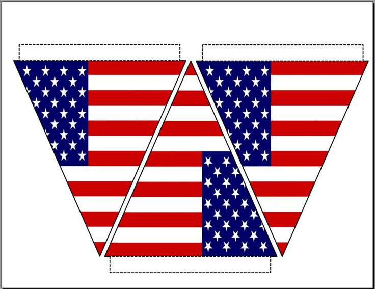 Free printable American flag bunting - patriotic banner - fourth of july USA