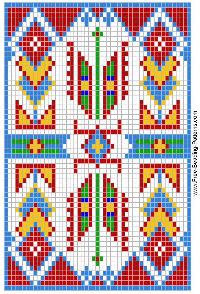 Free Native American Beading Pattern Warrior's Medicine Bag