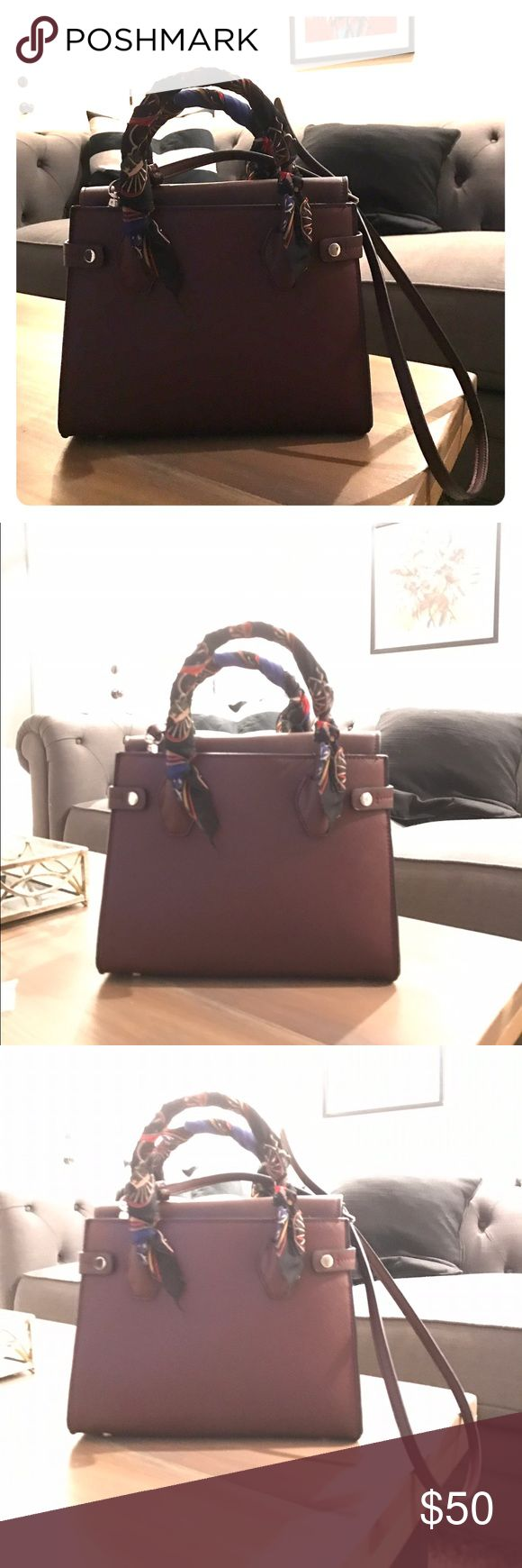 Zara handbag with tags Never used. Bought for a gift. Maroon Zara Bags Totes