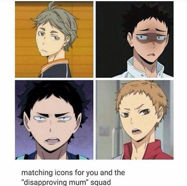 #haikyuu! Funny i love how all of them are the teams coolers who just calm everyone if theyre getting too fired up!! :D