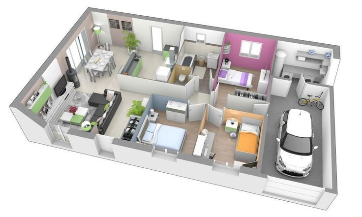 55 best ide rumah images on Pinterest House floor plans, Floor - faire son plan de maison en 3d
