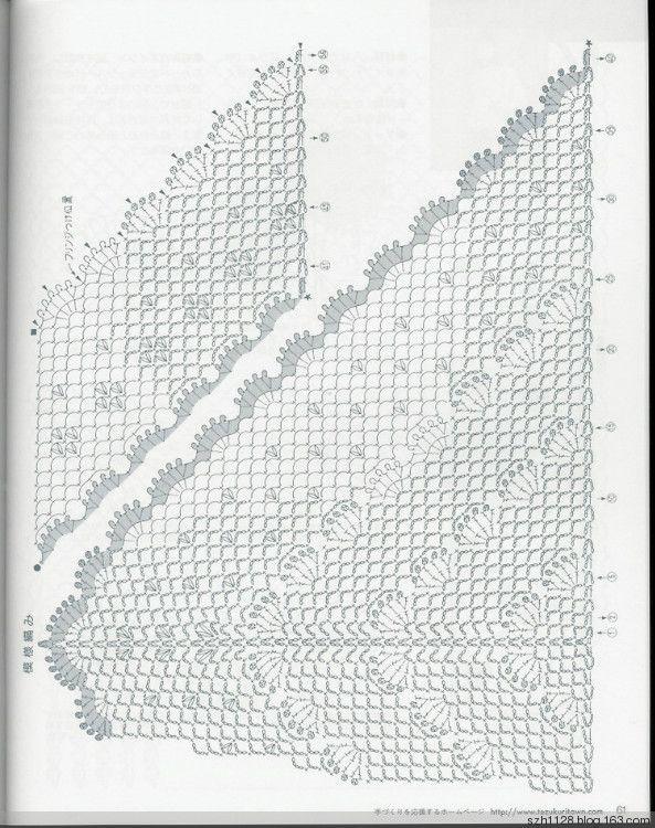 Scialle con frange reti triangolari - Feishuang Ningxue - Feishuang Ningxue