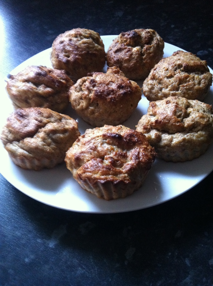 Syn free weetabix and banana muffins 2 weetabix crushed 2 eggs beaten 3 tbsp fat free natural yogurt 1 mashed banana 2 tbsp sweetener (canderel/Splenda etc) Vanilla essence Mix all ingredients together and put into cases, pop in the oven for 25 mins on 180 SYN FREE IF USING WEETABIX AS HE b