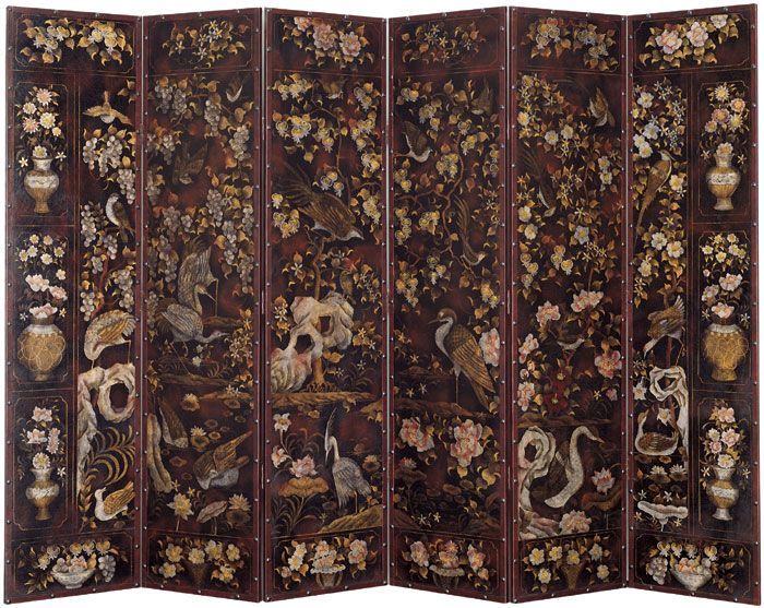 chinese screens room dividers | Folding screen - Oriental Screen in Faux  Leather Finish - Best 25+ Japanese Room Divider Ideas On Pinterest Shoji Screen