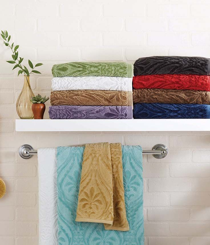 Better Homes And Gardens Thick And Plush Sheared Paisley Damask Towel  Collection