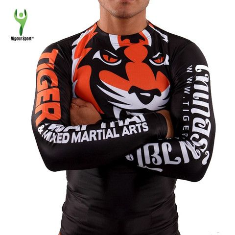 Tiger Print MMA Long & Short Sleeve Top