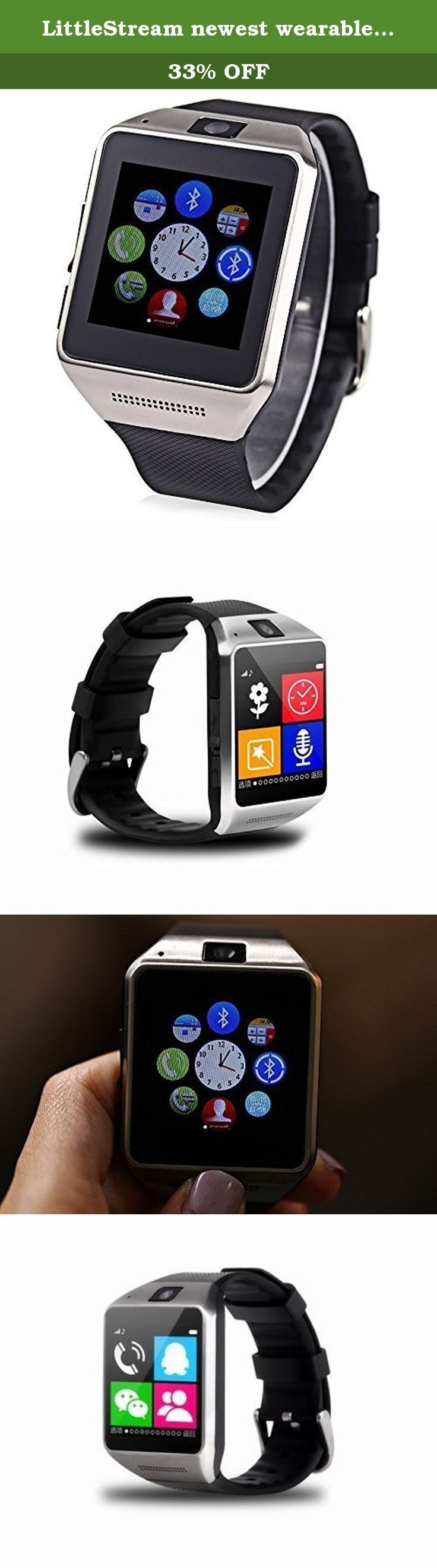 LittleStream newest wearable smart watch intelligent Bluetooth Health GT08 wristwatch phone with SIM card slot and TF card for Android smartphone (not for IOS smartphone) black silver. Notice: Push application for IOS are not currently available on iOS MTK6260A 533MHz CPU System Architecture (low power) Networking and connectivity SIM card one SIM card (micro SIM. card) frequency band GSM 850/900/1800/1900 MHz Bluetooth Bluetooth 4.0 Storage RAM 128M ROM 64M external memory card TF card…