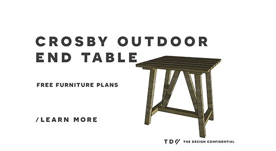 Free Outdoor Furniture Plans: How to Build a Crosby Indoor Outdoor End Table | The Design Confidential