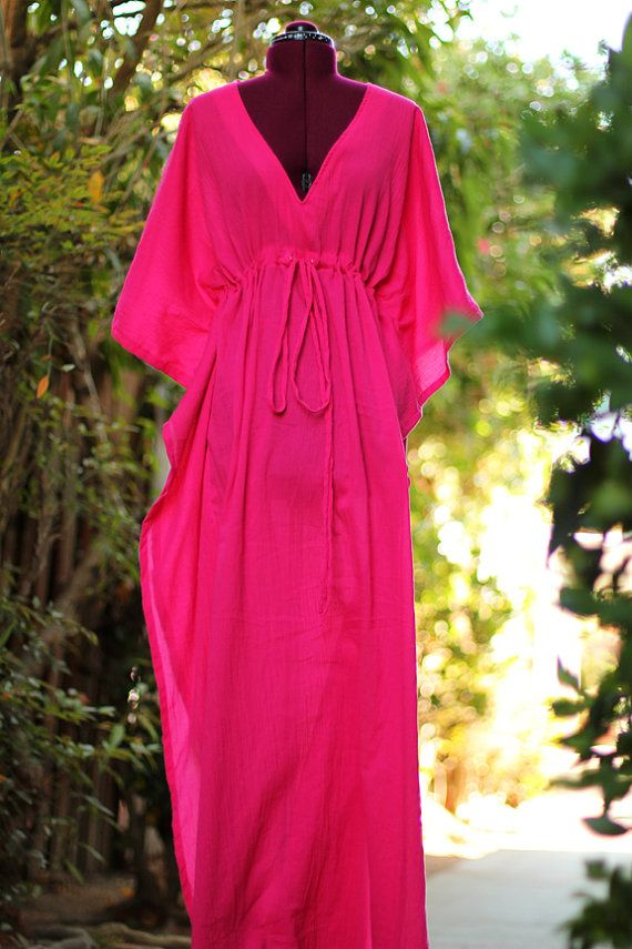 Beach Cover Up Caftan Maxi Dress in by mademoisellemermaid, $68.00