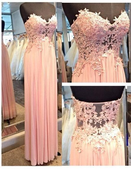 A-Line princess prom dress,sweatheart neck prom dress,strapless prom dress,lace appliques prom dress,elegant wowen dress,party dress,evening dress,dress for teens L602