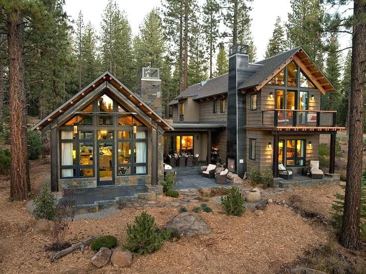 Image Result For Contemporary Cabin Plans Hgtv Dream Homes Rustic Houses Exterior House In The Woods