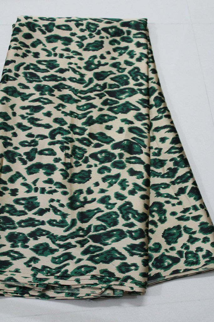 DIGITAL ANIMAL PRINTED SATIN FABRIC