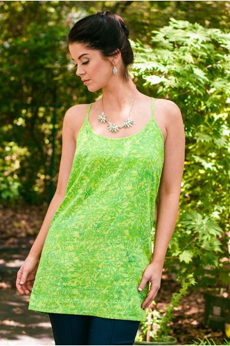 Island Getaway Green Batik Dress / tunic   Indonesia   shopgofish.com